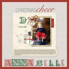 D is for Doll - Digital Scrapbooking Ideas - DesignerDigitals A favorite Christmas present