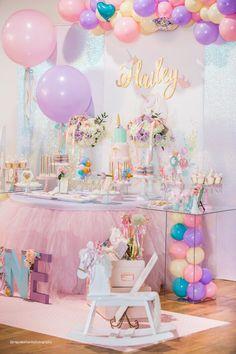 baby unicorn birthday party
