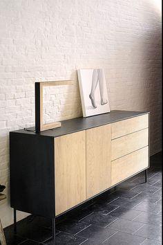 Side Board, Sideboard Table, Credenza, Bureau Design, Living Room Sofa, Living Room Decor, Wood Furniture, Furniture Design, Revolving Door