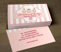 pink milky cupcake bakery business cards This great business card design is available for customization. All text style, colors, sizes can be modified to fit your needs. Just click the image to learn more! | bizcardstudio.co.uk