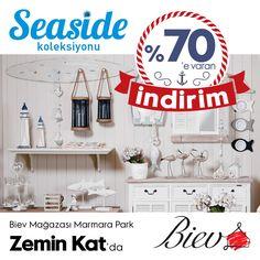 #MarmaraPark Biev'in Seaside koleksiyonunda % 70'e varan indirim ile evinize farklılık yapmaya ne dersiniz?
