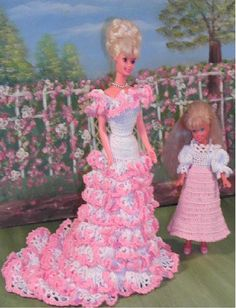 Crochet Fashion Doll Barbie & Stacie Pattern- #144 MOTHERS LOVE #1