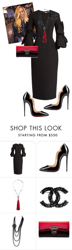 """Official Day!!!!!"" by cogic-fashion ❤ liked on Polyvore featuring Roksanda, Christian Louboutin and Chanel"