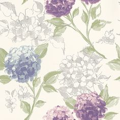 Hydrangea  wallpaper by Esta Home