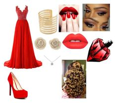 """Red prom look"" by olivia-huffer on Polyvore"