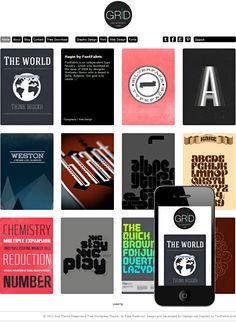 Free Responsive WordPress Theme for designers, illustrators and photographers, and web designers, grid style
