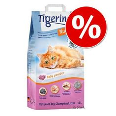 Animalerie  Tigerino Nuggies 14 L/14 kg à prix cassé !  gros grains  senteur talc (14 L)