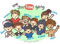 pandapal:  The famous Youtube gang :)      Yay they added Louis and Maz!