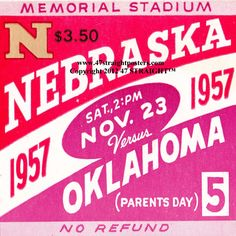 Christmas football gifts made from authentic game tickets. 1957 Oklahoma vs. Nebraska Football Ticket Coasters™ http://www.shop.47straightposters.com/Christmas-Football-Gifts_c68.htm Christmas Football Gifts!