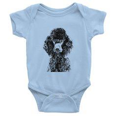 Poodle Infant Baby Rib Short Sleeve One-Piece
