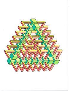 Regolo Penrose Triangle, Math Art, Rug Hooking, Geometric Art, Discover Yourself, Rainbow, Abstract, Pattern, Handmade