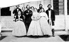 Ford Family, back row left: Sidney Ford (1801-1866); front row left Mary Angeline Ford (1847-1934) to Oregon in 1850, resided in Thurston, Washington.
