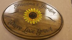 Gentil Grandmau0027s Garden Sign Wood Zen Garden Garden Decor Custom Personalized  Plaque Wooden Garden Sign Garden Art