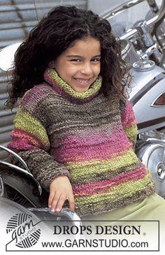 DROPS Child Sweater in Inka free knitting pattern
