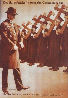 El obispo del Reich adiestra a la cristiandad, 1934.
