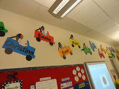 so cute for the classroom! Transportation theme