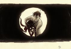 by http://drawrstubbs.tumblr.com/ Inspired from Adam and Dog by Minkyu Lee.