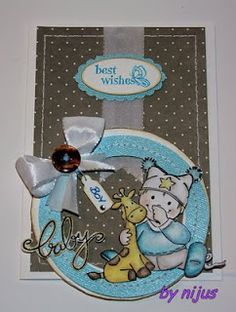 Anett´s Kreativkiste Babykarte Karte Baby gestempelt Card Babycard