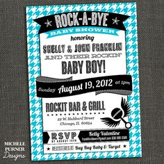 ROCK-A-BYE Baby Shower - Couples Shower - boy or girl - PRINTABLE