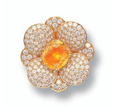 Yellow Sapphire and Diamond Brooch, Van Cleef & Arpels - Sotheby's