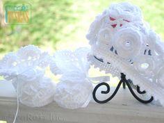 Christening Dress, Booties, Beret and Bonnet PDF Crochet Pattern