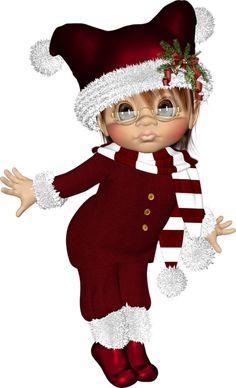 "Photo from album ""Рождественские Эльфы"" on Yandex. Pixie Tattoo, Bratz, 2 Clipart, New Year Wallpaper, Bubble Art, Glitter Girl, Little Designs, Christmas Clipart, Monster High Dolls"