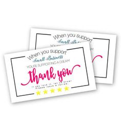 d7614a530649d 20 Best Small Business Thank You Card images in 2018 | Business ...