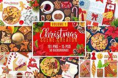 Christmas Scene Creator Volume 1 by pixaroma on @creativemarket