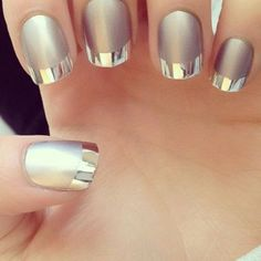 Looks professional but is really easy! Choose your colour and paint the nails, tips and nails then China Glaze matte magic