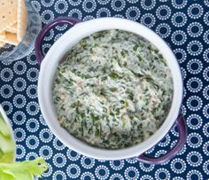 A great way for kids to get their greens! Our spinach, onion, bell pepper, and herb seasoning blend makes an irresistible cheesy dip.