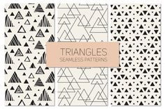 Triangles. Seamless Patterns Set 11 by Curly_Pat on @creativemarket