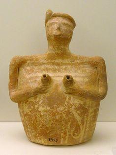Rhyton in form of a woman. 2200–1800 BC. Malia, Crete.