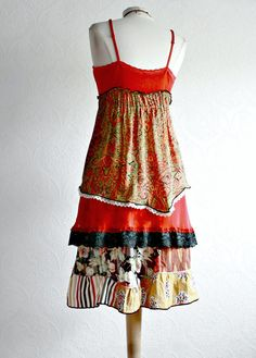 Upcycled Dress Bohemian Sundress Eco by BrokenGhostClothing, $119.00