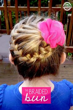 Photo tutorial on how to make a braided bun hairstyle for girls - easier than I thought!