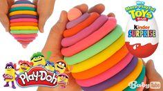 Киндер Сюрприз. Открываем большой Киндер Сюрприз Плей До с 10-и игрушкам...
