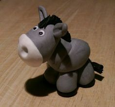 Etsy Transaction Donkey Clay Figurine Polymer Clay