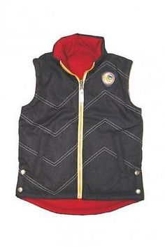 Horseware Kids Reversible Vest (9-10yr, Denim/Red)