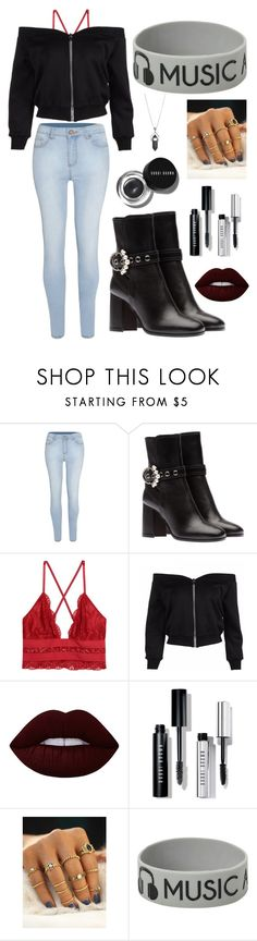 """""""Untitled #586"""" by anjalenabvb on Polyvore featuring Bobbi Brown Cosmetics, Lime Crime, Hot Topic and Healing Stone"""