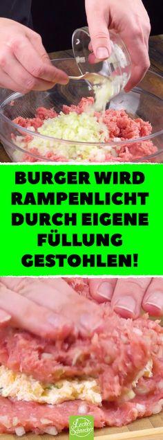 Burger wird Rampenlicht durch eigene Füllung gestohlen! Feuriger Jalapeño Burger aus Geflügel schlägt jedes 08/15 Fast Food! #Burger #Rezepte #Fast Food #JalapeñoBurger #Geflügelburger #Cheeseburger