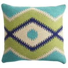 Pier 1 Imports always has the BEST pillows. Love giving pillows as a gift. No one ever has enough indoor and outdoor living pillows. Great print from Kilim Jacquard for Pier 1 Imports! Only $29.95