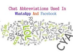 List Of Chat Abbreviations Used WhatsApp Messenger