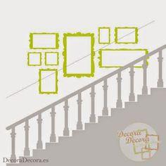 Colgar unos cuadros en una escalera. Stairway To Heaven, Stairways, Ideas Para, Living Room Designs, Diy Home Decor, Sweet Home, Gallery Wall, Floor Plans, Home And Garden