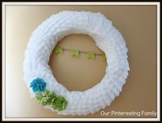 Our Pinteresting Family: Coffee Filter Wreath