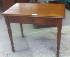 Antique Farm Table / Work Table with Drawer
