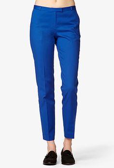 Zippered Matelessé Pants   FOREVER21 - 2047269371