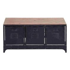 Woodland Imports -Handcrafted Wood Metal Storage Bench $297.15