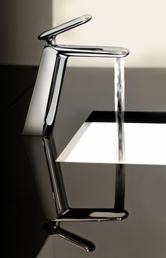Deck-mounted wash basin mixer, Chrome finishing