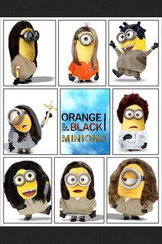 Orange is the New Black minions!!!! #OITNB