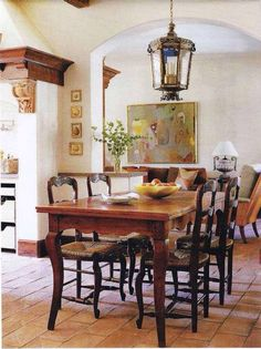 Rustic French Country Dining