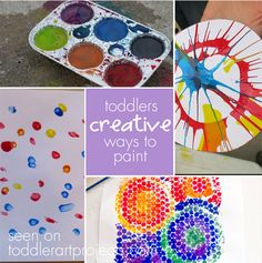 5 Creative Ways to Paint - Toddler Art Projects